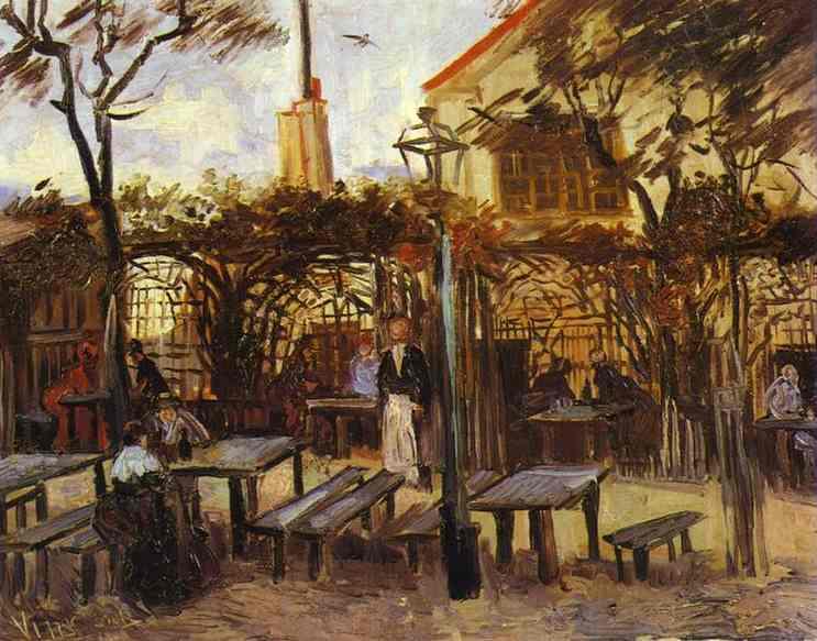Terrasse Des Cafe La Guinguuette Von Vincent Van Gogh 1853 1890