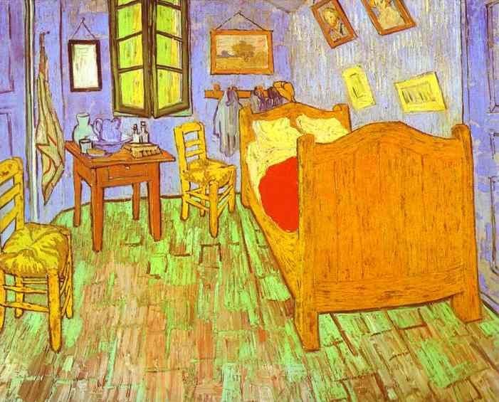 van goghs schlafzimmer in arles saint r my l von vincent van gogh 1853 1890 netherlands. Black Bedroom Furniture Sets. Home Design Ideas