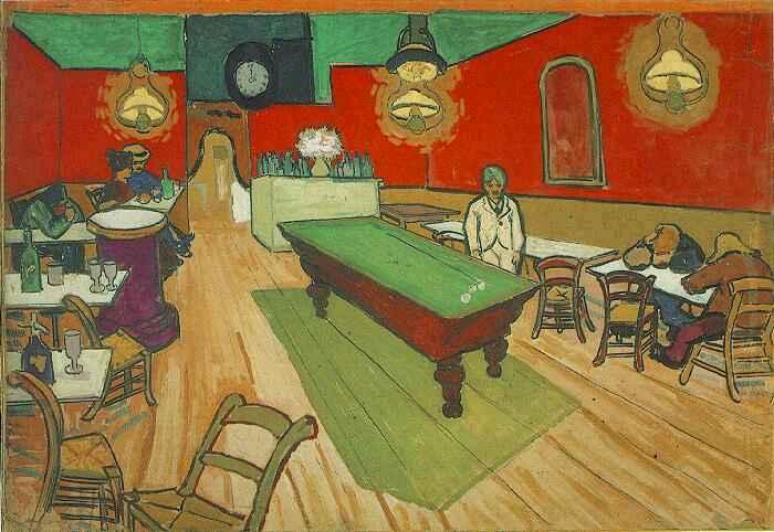 Nacht Cafe In Arles Das Aquarell Von Vincent Van Gogh 1853 1890