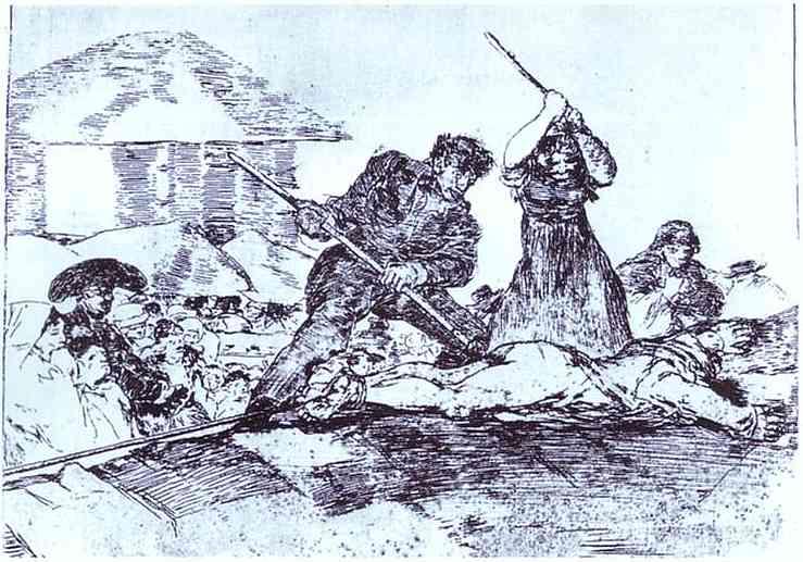 Desastre de la Guerra, 28 Populacho (mob) von Francisco De Goya ...