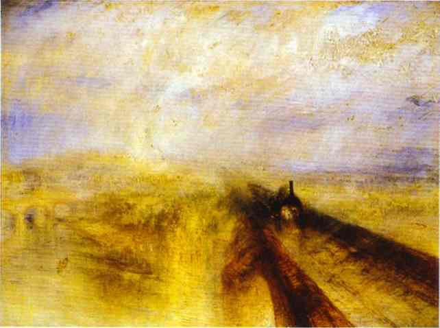 'Regen, Dampf und Geschwindigkeit - The Great Western Railway', öl von William Turner (1775-1851, United Kingdom)