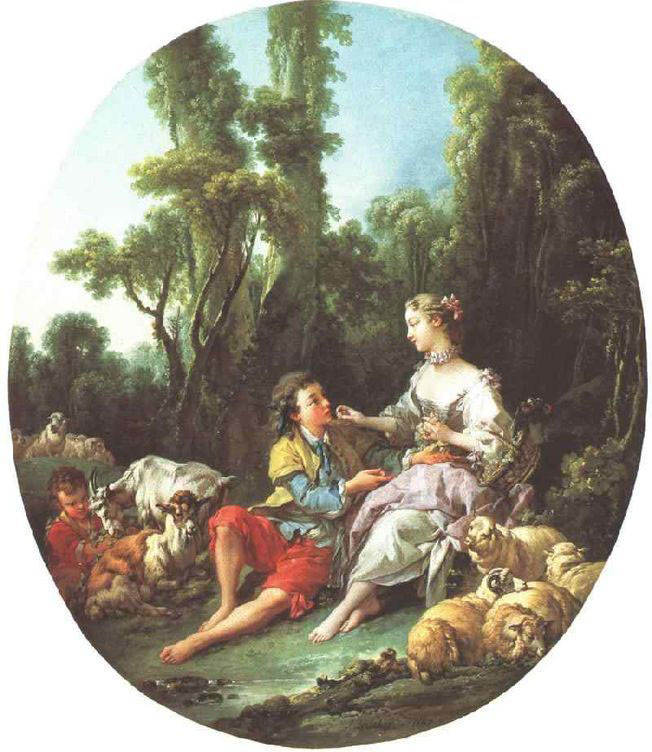 Sind Sie Thinking About the Grape von François Boucher (1703-1770, France) | Malerei Kopie | WahooArt.com