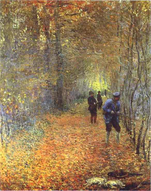 Claude Monet >> The Hunt  |  (öl, Gemälde, Reproduktion, Kopie, Gemälde).