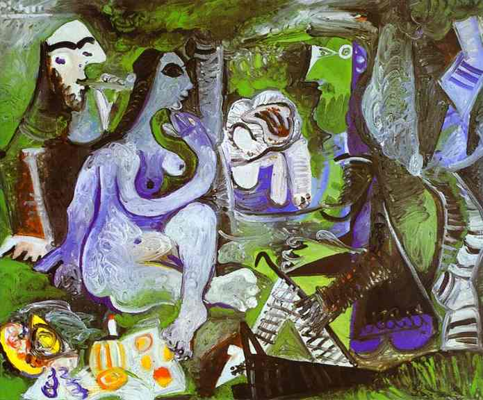 luncheon on the grass after manet pablo picasso. Black Bedroom Furniture Sets. Home Design Ideas