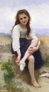 William Adolphe Bouguereau - Vor dem Bad