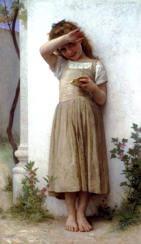In Buße, öl von William Adolphe Bouguereau (1825-1905, France)