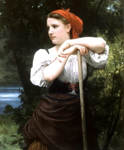Faneuse, öl von William Adolphe Bouguereau (1825-1905, France)