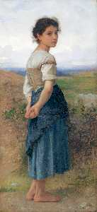 William Adolphe Bouguereau - Junge Schäferin CA