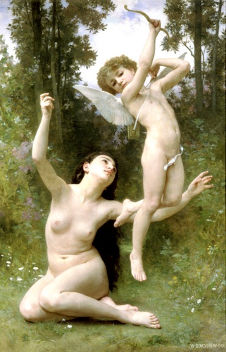 Lamour senvole, öl von William Adolphe Bouguereau (1825-1905, France)
