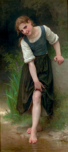 Die Gue, öl von William Adolphe Bouguereau (1825-1905, France)