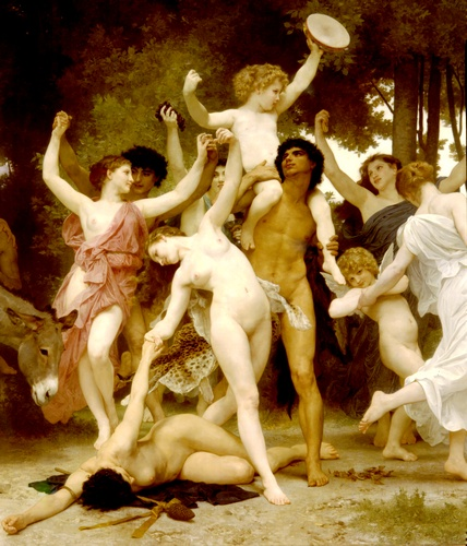 Jugendzentrum Bacchus dt, öl von William Adolphe Bouguereau (1825-1905, France)