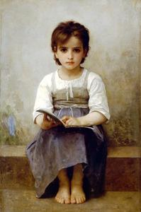 William Adolphe Bouguereau - Die harte Lektion