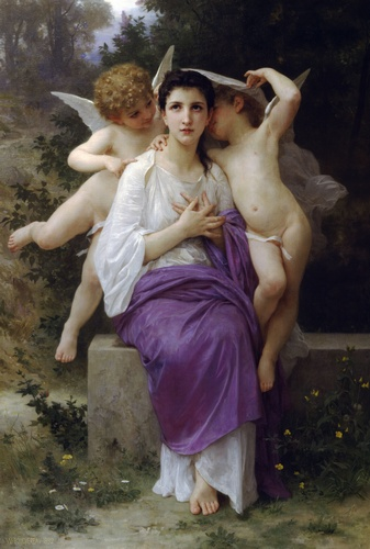 Leveille Herz, öl von William Adolphe Bouguereau (1825-1905, France)
