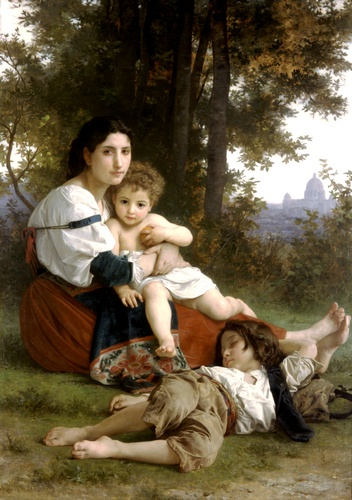 Auflage, öl von William Adolphe Bouguereau (1825-1905, France)