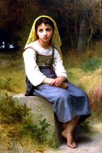William Adolphe Bouguereau - NB Meditation 1885