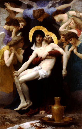 Pieta 1876, öl von William Adolphe Bouguereau (1825-1905, France)