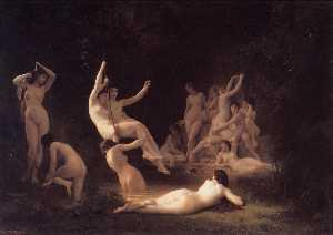 William Adolphe Bouguereau - Das Nymphäum