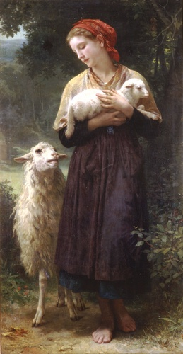 Die Schäferin 1873 165.1x87.6cm von William Adolphe Bouguereau (1825-1905, France) | WahooArt.com