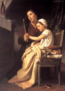 William Adolphe Bouguereau - Das Dankopfer