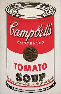 Andy Warhol - Campbell-S suppe kann ( tomate )