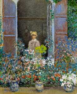 Claude Monet - camille monet am fenster