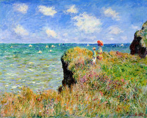 Claude Monet - Clifftop Weg bei Pourville