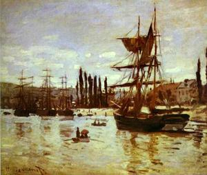 Claude Monet - Ships in Rouen