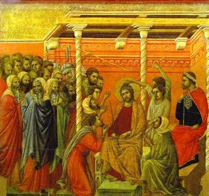 Duccio Di Buoninsegna - Maesto (Rücken, Mitteltafel), The Crown of Thorns