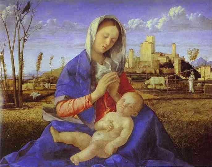 die madonna von dem wiese von giovanni bellini 1433 1516 italy ber hmte gem lde. Black Bedroom Furniture Sets. Home Design Ideas