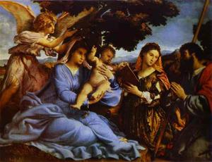 Lorenzo Lotto - madonna mit kind , Str . Catherine , und st . Jacob