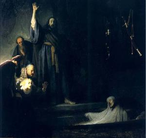 Rembrandt Van Rijn - la resurrection de lazare , los angeles