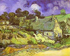 Vincent Van Gogh - Cottages mit Stroh-  dächer