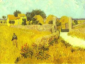Vincent Van Gogh - `farmhouse` in provence , Arles
