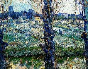 Vincents Schlafzimmer in Arles, öl auf leinwand von Vincent Van ...