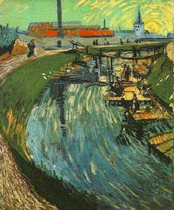 Vincent Van Gogh - Canal mit Women Washing