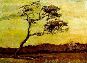Vincent Van Gogh - Wind-Beaten Baum , Ein