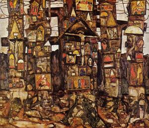 Egon Schiele - Woodland Prayer