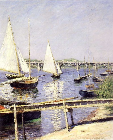 segeln boote bei argenteuil von Gustave Caillebotte (1848-1894, France) | WahooArt.com