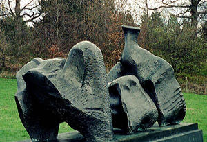 Henry Moore - Three Piece Reclining figure No.1