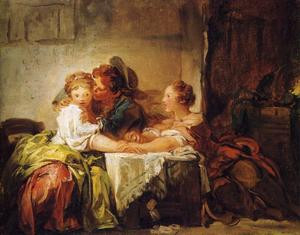Jean-Honoré Fragonard - The Lost Wager
