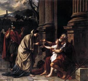 Jacques Louis David - Belisarius Almosen