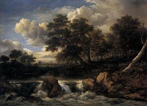 Jacob Isaakszoon Van Ruisdael (Ruysdael) - Landschaft mit Waterfall1