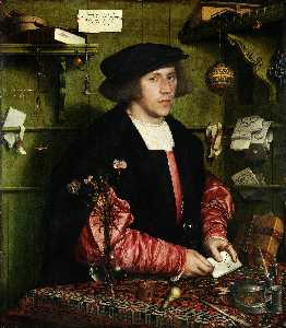 Hans Holbein The Younger - Portrait des Kaufmanns Georg Gisze