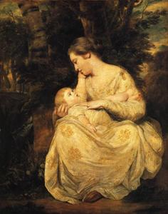Joshua Reynolds - Mrs Richard Hoare und Kind