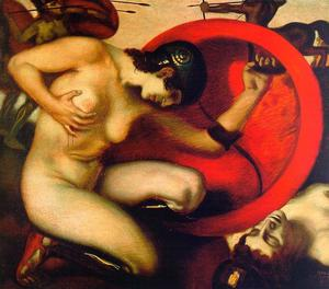 Franz Von Stuck - Wounded Amazon