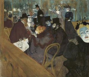 Henri De Toulouse Lautrec - Self-portrait in der menge , bei dem moulin rouge