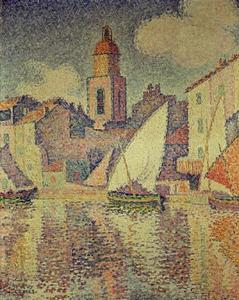 Paul Signac - der clocktower in st . Tropez