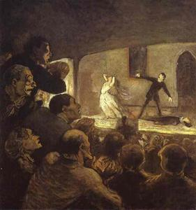 Honoré Daumier - in der theater