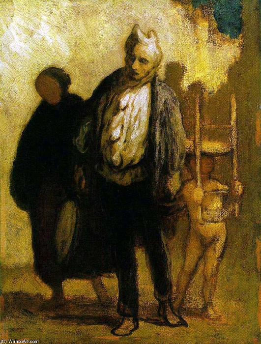 Wandering Saltimbanques von Honoré Daumier (1808-1879, France) | WahooArt.com