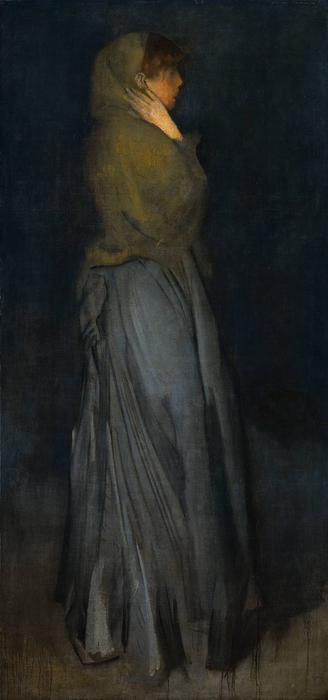 Arrangement in Gelb und Grau, Effie Deans, öl von James Abbott Mcneill Whistler (1834-1903, United States)